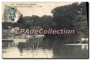 Old Postcard The Banks of the Marne Part raft