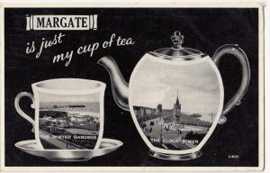 Kent; Margate, Novelty Multiview, With Teapot & Cup PPC, 1957 PMK