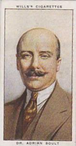 Wills Vintage Cigarette Card Radio Celebrities No 11 Dr Adrian Boult