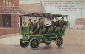 GARY , Indiana , 1909 ; Sight Seeing Automobile