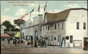 South Walk Vanity Fair Providence RI Amusement Park c1910 Postcard