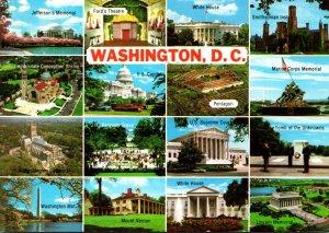 Washington D C White House Jefferson & Lincoln Memorials Ford's Theatre ...