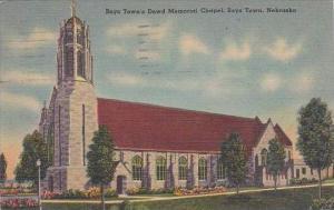 Nebraska Boys Town Boys Towns Dowd Memorial Chapel 1953