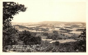 Backbone Mountain Md~Table Rock Trail Top~Valley View~Patchwork Farms~c1940 RPPC