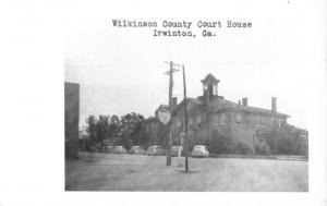 Irwinton Georgia Wilkinson Court House Real Photo Antique Postcard K30413