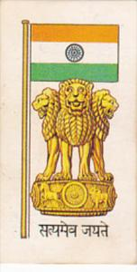 Vintage Trade Card Brooke Bond Tea Flags and Emblems Of The World No 5 India