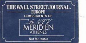 GREECE ATHENS HOTEL MERIDIEN VINTAGE LUGGAGE LABEL
