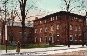 Conservatory of Music Toronto Ontario ON Ont College Street Antique Postcard E22