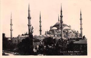 Turkey Old Vintage Antique Post Card Sultan Ahmet Istanbul Unused