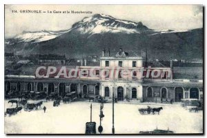 Old Postcard Grenoble Train And The Moucherotte