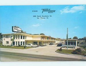 Unused Pre-1980 TRAVELODGE MOTEL Des Plaines - Near Evanston & Chicago IL c0214