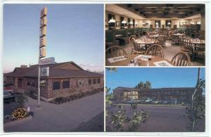 Frontier Motel Grill Restaurant Roosevelt Utah postcard