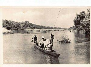 Ghana Gold Coast On the River Volta RP Postcard