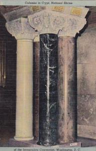 Columns In Crypt National Shrine Of The Immaculate Conception Washington D C
