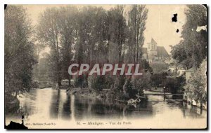 Postcard Montigny Old Bridge View