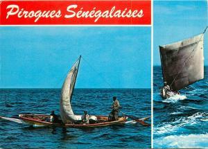 Pirogues Senegalaises Senegal senegalese pirogues postcard