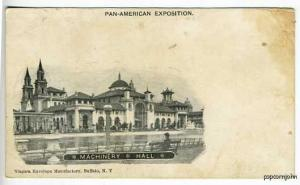 Pan-American Expo Machinery Hall Postcard
