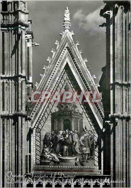 Postcard Modern Orvieto Facade of the Cathedral (detail) The Marriage of the ...