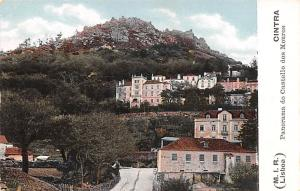 Portugal Old Vintage Antique Post Card Panorama do Castello dos Mouros Cintra...