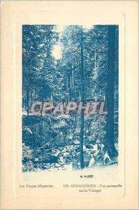 Old Postcard Gerardmer A bridge on Vologne Vosges illustrees