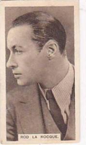 Abdulla Vintage Cigarette Card Cinema Stars Brown Back No 10 Rod La Rocque  1932