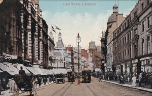 LIVERPOOL, Lancashire, England, 1900-1910's; Lord Street, Cable Cars, Classic...