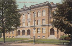 PAWTUCKET, Rhode Island, 1900-1910's; High School