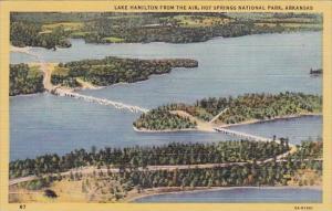 Lake Hamilton From The Air Hot Springs National Park Arkansas 1949