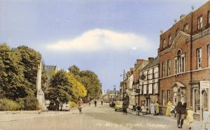 Vintage 1960's Postcard St. Mary's Street, Bungay, Suffolk L46