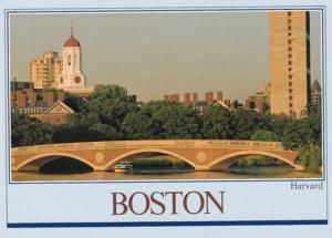 Massachusetts Boston Harvard University and Memorial Bridge