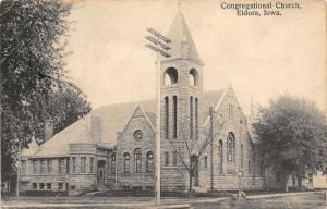 Eldora Iowa~Belltower of Congregational Church Taller Then Telephone Pole~c1910