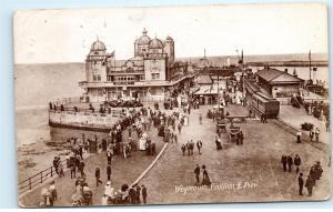 Weymouth Pavilion Pier Dorset UK Diplomacy Antique 1918 Vintage Postcard C96