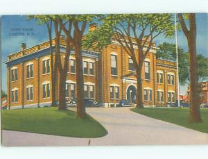 Unused Linen OLD CARS & COURT HOUSE Concord New Hampshire NH n4462