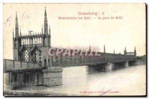 Old Postcard Strassburg The Kehl bridge