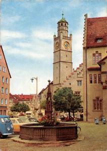 Ravensburg Wttbg. Blaserturm Brunnen Fountain Tower Auto Cars Motorcycles