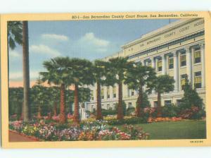 Unused Linen COURT HOUSE San Bernardino California CA n4449