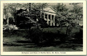 1940s MOUNT BERRY Georgia Postcard Birthplace and Home of Martha Berry Unused