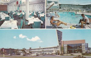 ARLINGTON, Virginia, PU-1953; Arva Motor Hotel, 3-views, Front, Dining area &...