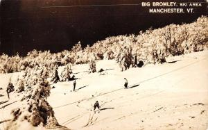 Manchester Vermont Big Bromley Ski Area Real Photo Antique Postcard K81435