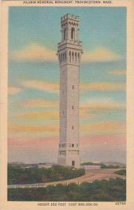Massachusetts Provincetown Pilgrim Memorial Monument Height 252 Feet Cost 900...