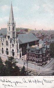 HALIFAX, Nova Scotia, Canada, PU-1907; St. Mary's Cathedral And Glebe House