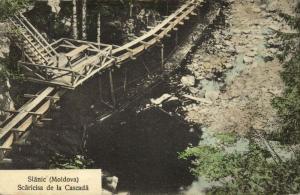 romania, SLĂNIC, Moldova, Scăricisa de la Cascadă (1910s) Postcard