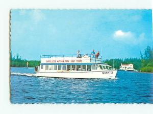Vintage Postcard Everglades National Park Boat Tour Everglades City Flor  # 2685