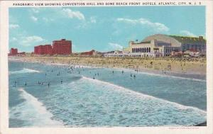 New Jersey Atlantic City Panoramic View Showing Convention Hall Some Beach Fr...