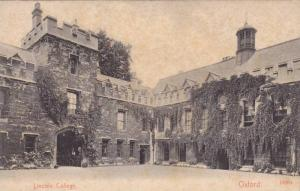Lincoln College, Oxford (Oxfordshire), England, UK, 1900-1910s