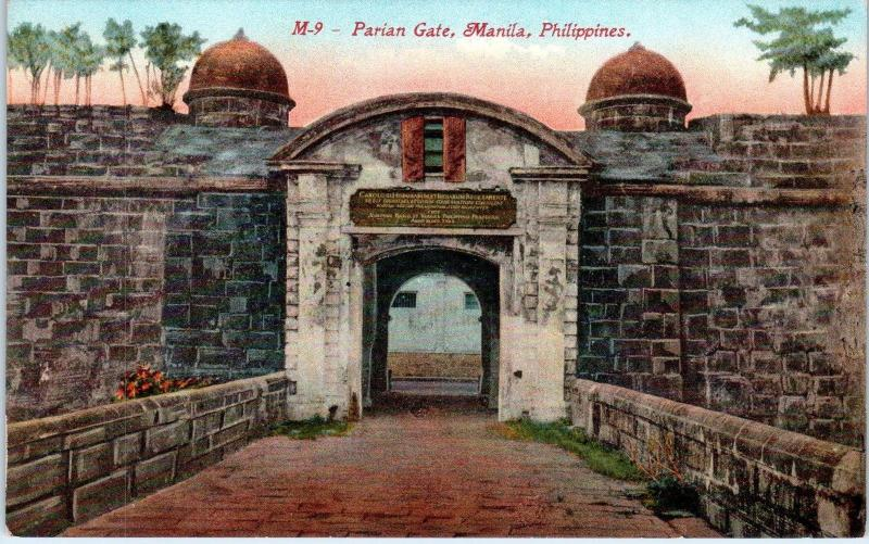 MANILA, Philippines    PARIAN GATE    c1910s    Postcard