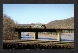 WV CSX Transportation Railroad Train 26 Harpers Ferry West Virginia Postcard RR