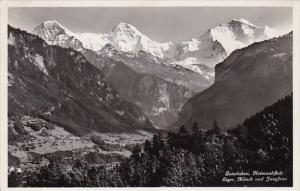 Switzerland Interlaken Heimwehfluh Eiger Moench und Jungfrau 1937 Photo