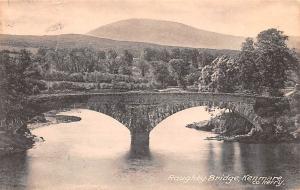 Scotland, UK Old Vintage Antique Post Card Roughty Bridge Kenmare Postal used...