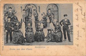 BR56982 kunkelstube gruss aus dem Elsass folklore costume    France